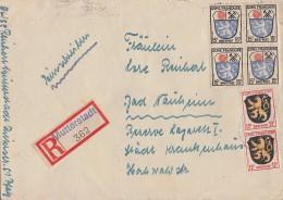 Fr. Zone R-Brief Mif Minr.2x 6, 4x 7 Mutterstadt - Französische Zone
