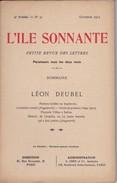 POESIE / L'ILE SONNANTE N° 31: LEON DEUBEL - Auteurs Français