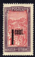 Madagascar N° 125  XX  Partie De Série : Timbres Surchargés : 1 C. Sur 15 C. Sans Charnière, Gomme Coloniale Sinon TB - Madagascar (1889-1960)