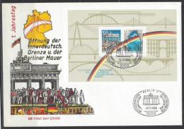 BUND - Sonderbeleg Mi-Nr. Block 22 - Jahrestag Öffnung Der Innerdeutschen Grenze Und Der Berliner Mauer - Briefe U. Dokumente