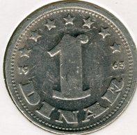 Yougoslavie Yugoslavia 1 Dinar 1963 KM 36 - Jugoslavia