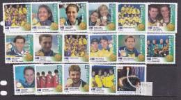 2000 Sydney Australia Gold Medallists Set MNH - Summer 2000: Sydney