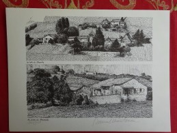 DESSIN DE DANIEL CHANTEREAU LE VIGNOBLE 3 BEAUJOLAIS COTES DE BROUILLY BRUISANTE - Prints & Engravings