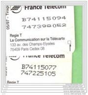F 739 CARTE D´OR**Ancienne Numerotation+4 Numeros Ecrases** ETAT, Lire Descriptif **cote 260/110€ +Varite N° ** (A1-P17 - 1997