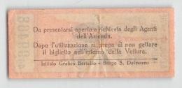 """05997 """"BIGLIETTO AZIENDA TRA(N)VIE MUNICIPALI TORINO - 50 CENTESIMI - ANNI '30 DEL XX SECOLO """" ORIGINALE - Tramways"""