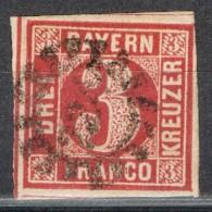Sello 3 K Bayern, Mühlradstempel  Omr 224,IMMENSTADT, Num  10 º - Bavière