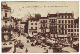 Saint Etienne - Marché à La Ferraille - BROCANTE - Place Du Théatre - Animée - Markets