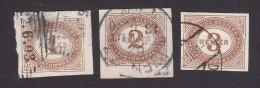 Austria, Scott #J10-J12, Used, Postage Due, Issued 1899 - Impuestos