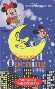 Télécarte NEUVE Japon  / 110-178693 - DISNEY STORE GO - MICKEY Sur La Lune & MINNIE - Japan MINT Phonecard / 5000 EX - Disney