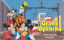 Télécarte Japon / 110-184470 - DISNEY STORE GO - MICKEY MINNIE Train ** ONE PUNCH ** - Japan Phonecard / 2500 EX - Disney