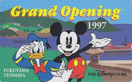 Télécarte Japon / 110-184471 - DISNEY STORE GO - MICKEY & DONALD DUCK - Japan Phonecard / 2000 EX - Disney