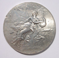 Médaille De Musique En Argent - Marqué Argent Sur La Tranche - Plusieurs Petits Coups Et Petites Rayures - Attribué à Mr - Militari