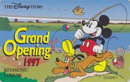 Télécarte Japon / 110-192798 - DISNEY STORE GO - MICKEY à La Pêche Fishing - Japan Phonecard Telefonkarte - Disney