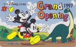 Télécarte Japon / 110-193346 - DISNEY STORE GO - MICKEY & Dinosaure - Japan Phonecard Telefonkarte - Disney