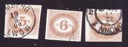 Austria, Scott #J14-J16, Used, Postage Due, Issued 1899 - Segnatasse