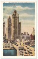 The Tribune Tower And Michigan Avenue Bridge, Chicago - Chicago