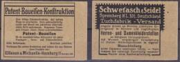 Dt. Kolonien, Zwei Gewachste Zwischenblätter Aus MH 3  (R 724) - Deutschland