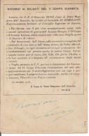 R. ESERCITO ITALIANO-C.P. IN FRANCHIGIA,1915-18-PM 263-2° Corpo D'Armata In Francia-DIAZ Lettera Al GEN.DI ROBILANT,NOTA - 1914-18