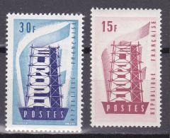 N° 1076 Et 1077 Europa 1956 : Timbres Neuf Sans Charnière Impéccable - Neufs