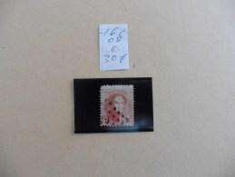 Belgique :timbre N°  16  Oblitété - 1869-1883 Leopoldo II