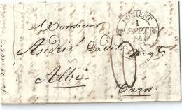 2  LETTRES -  Cachets  Au  Départ  De   LORIENT  à  Destination  D' ALBI - Marcophilie (Lettres)
