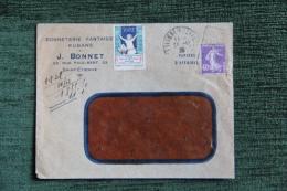 Enveloppe Timbrée Publicitaire - ST ETIENNE, J.BONNET, Bonneterie , Fantaisies Et Rubans, 23 Rue Paul BERT - Francia