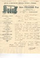 1926 FACTURE ILLUSTREE PUBLICITAIRE Jean FRAICHE Carcassonne Appareils Viticoles Vinicoles Alambics Pompes à Vin Siphons - Francia