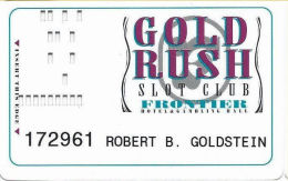 Frontier Casino Las Vegas, NV - Slot Card - Casino Cards