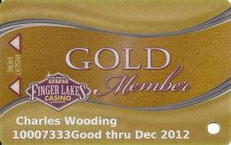 Finger Lakes Casino - Farmington, NY - Slot Card - GOLD Member - Casino Cards
