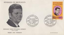 Enveloppe  FDC  1er  Jour   HAUTE - VOLTA    Président   John  KENNEDY   1964 - Kennedy (John F.)