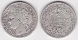 2 FRANCS CERES 1872 K En ARGENT (voir Scan) - France