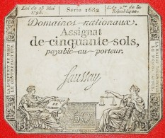 § SERIES 1682: FRANCE ★ 50 SOLS 1793! LOW START★NO RESERVE! - ...-1889 Circulated During XIXth