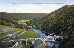 ZIEGENRÜCK I.o.Saaletal (Thüringen) - Hemmkoppenbrücke, Elisabethbrücke Und Pappenfabrik, Gel.1913 - Ziegenrück