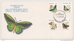 0873 Australia 1983 Butterflies Farfalle (Alice Springs) - FDC