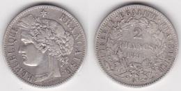 2 FRANCS CERES  1895 A En ARGENT (voir Scan) - France