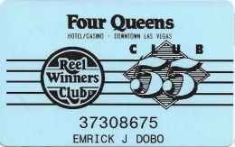 Four Queens Casino Las Vegas, NV - 5th Issue Senior Club 55 Slot Card - Casino Cards