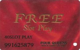 Four Queens Casino Las Vegas, NV - $40 Slot Play Card - ABLECARD.COM Over Mag Stripe - Casino Cards
