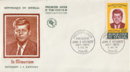 Enveloppe  FDC  1er  Jour    SENEGAL    Président   John  KENNEDY   1964 - Kennedy (John F.)