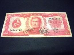 URUGUAY 100 Pesos 1967 ,pick KM N° 47,URUGUAY - Uruguay