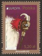 """POLONIA/ POLAND/ POLOGNE/ PO LSKA - EUROPA 2014- """"INSTRUMENTOS MUSICALES """"-  SERIE De 1 V. - Europa-CEPT"""
