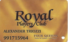 Four Queens Casino Las Vegas, NV -  Slot Card - ACC Over Mag Stripe - Casino Cards