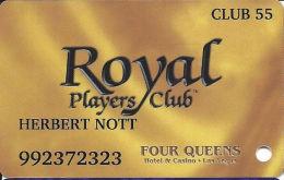 Four Queens Casino Las Vegas, NV -  Slot Card - ABL Over Mag Stripe - CLUB 55 - Casino Cards