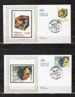 """MONACO 2006 : 2 Enveloppes 1er Jour En Soie """" EUROPA 2006 : L´INTEGRATION """" N° YT 2542 2543. Parf. état. FDC - 2006"""