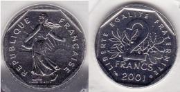 2 FRANCS SEMEUSE 2001 BU SOUS BLISTER Scellé FDC (voir Scan) - France
