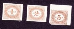 Austria, Scott #J10, J11, J14, Mint Hinged, Postage Due, Issued 1899 - Strafport