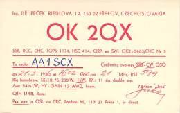Amateur Radio QSL Card - OK2QX - Czechoslovakia - 1976 - Radio Amateur