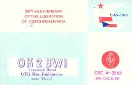 Amateur Radio QSL Card - OK2BWI - Czechoslovakia - 1976 - 2 Scans - Radio Amateur