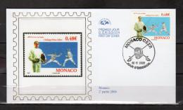 """MONACO 2006 : Enveloppe 1er Jour En Soie De 2006 """" 20ème TOURNOI DE SABRE S.A.S. ALBERT II """" N° YT 2545. Parf état. FDC"""