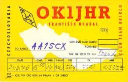 Amateur Radio QSL Card - OK1JHR - Czechoslovakia - 1976 - Radio Amateur