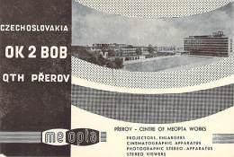 Amateur Radio QSL Card - OK2BOB - Prerov, Czechoslovakia - 1974 - 2 Scans - Radio Amateur
